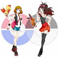 Pokemon Serena and Touko