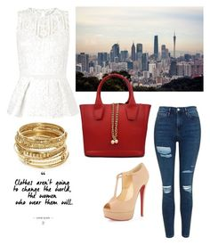 """""""City Style"""" by jenn-bieri on Polyvore featuring Lipsy, Christian Louboutin, Topshop and ABS by Allen Schwartz"""