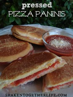 shaken together:  pressed pizza paninis ... an easy week night meal