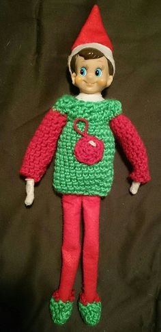 Free Knitting Patterns For Elf On The Shelf Clothes : 1000+ images about crochet on Pinterest Hooded scarf ...