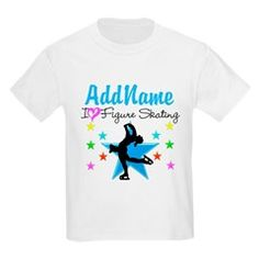 LOVE FIGURE SKATING Kids Light T-Shirt Inspire your lovely Skater with our personalized Figure Skating Tees, Apparel, and Gifts. http://www.cafepress.com/sportsstar/10189550 #Figureskating #Skatergirl #Borntoskate #Lovetoskate #Icequeen