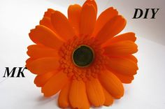 Гербера из фома МК\How to make Foam Flower, DIY, Tutorial Foam
