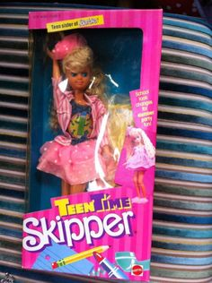 80s Teen Time Skipper Doll Barbie Sister By Mattel 1988