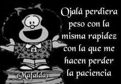 Mafalda PESO PACIENCIA