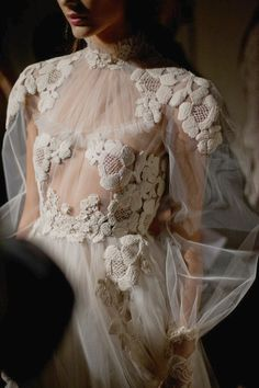backstage at Valentino couture spring/summer 2012
