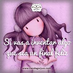 Si vas a inventar algo que sea un final feliz #gorjuss #santoro #felizdomingo #frasedeldia #finalfeliz Spanish Quotes, Happy Thoughts, Love Quotes, Clip Art, Positivity, Namaste, Ted, Journal, Happy