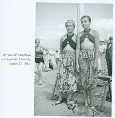 Hasselbachs in Schiaparelli,  Deauville,  August 25, 1935