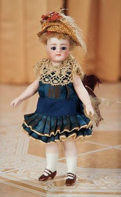 Beautiful German Bisque Closed Mouth Doll by Simon and Halbig 1100/1600 Auctions Online | Proxibid