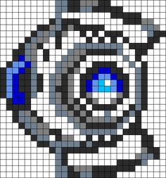 Minecraft Pixel Art Templates Portal Two  Minecraft