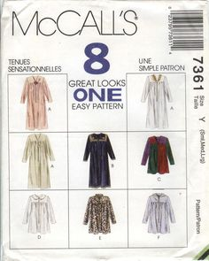 McCall's 7361 Misses' Robe in Two Lengths Sleepwear