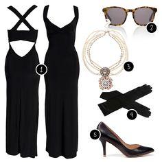 Nelly maxi dress, Alexander Wang sunglasses, Asos necklace, Sears gloves, Zara heels