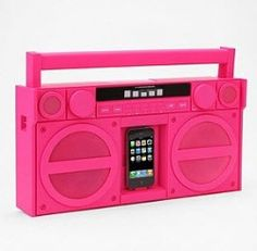 iHome iPod/iPhone Docking System from Urban Outfitters. Saved to My Wishlist. Shop more products from Urban Outfitters on Wanelo. Radios, Rock And Roll, Ipod Dock, Everything Pink, Boombox, Retro, Cool Gadgets, My Favorite Color, Favorite Things