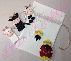 A török és a tehenek ujjbábkészlet, Baba-mama-gyerek, Játék, Báb, Készségfejlesztő játék, Meska