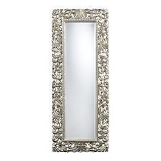 Talmadge Scroll Frame Mirror In Antque Silver DM2021 by Sterling - Talmadge Scroll Frame Mirror In Antque Silver DM2021 by SterlingSKU: DM2021Category: MirrorType: MirrorFinish: Antique SilverMaterial: Glass, MetalMirror Only Length: 13Mirror Only Height : 49Numbers of Cartons 1Country of Origin: ChinaMinimum Quantity: 1Dimensions_1: 24W x 2L x 60H, Weight: 17Carton Dimensions_1: 29W x 64L x 5H, Weight: 22.5