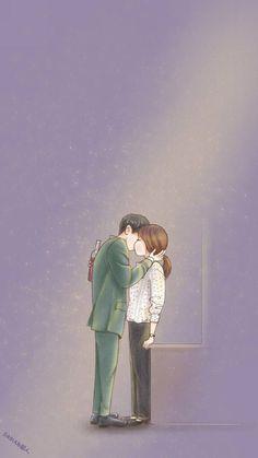 New Wallpaper Couple Dots Ideas Cute Couple Art, Anime Love Couple, Cute Anime Couples, Songsong Couple, Descendants Of The Sun Wallpaper, Decendants Of The Sun, Goblin Art, Couple Illustration, Sun Art