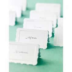 Use these place cards from Martha Stewart Crafts to identify drinks and dishes or as place cards. Each package includes 12 pieces. Wedding Stationary, Wedding Invitation Cards, Sikh Wedding, Wedding Reception, Online Craft Store, Craft Stores, 30th Birthday Celebration Ideas, Fabric Crafts, Diy Crafts