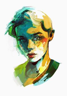 Famous faces | sketches by Viktor Miller-Gausa, via Behance