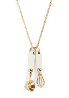 For all my baking ladies out there :)    Ten Out of Utensils Necklace, #ModCloth