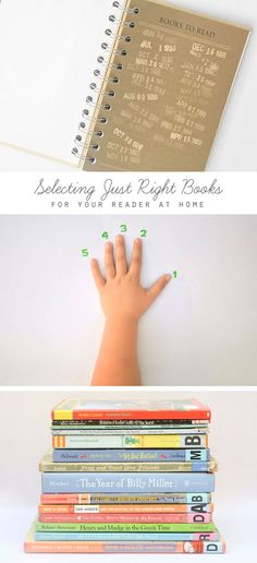 """A really useful guide for helping your budding reader chose the """"just right"""" book..."""
