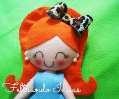 Red Head , little doll , Feltrando Ideias Feltrando Ideias on facebook