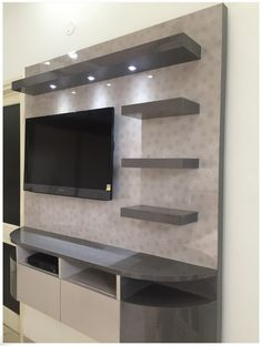Tv unit in common bedroom modern style bedroom by Lcd Unit Design, Modern Tv Unit Designs, Tv Unit Interior Design, Lcd Panel Design, Tv Unit Furniture Design, Wall Unit Designs, Living Room Tv Unit Designs, Ceiling Design Living Room, Tv Wall Design