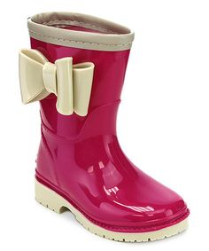Love this Fuchsia & Nude Agreeable Rain Boot on #zulily! #zulilyfinds