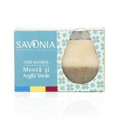 Sapun 100% Natural Savonia Menta si Argila Verde, 90 g