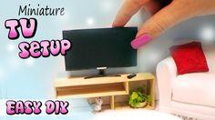 Easy Miniature/Doll TV, Remote & Stand Tutorial // DIY dollhouse