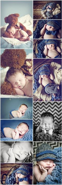 {Ella Rose Portrait Arts} Newborn Boy Photography (I've got the big Teddy for a prop!)