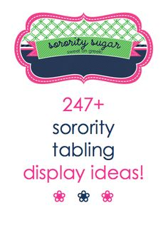 TABLE TERRIFIC inspiration from ALL the sorority chapters! <3 BLOG LINK: http://www.sororitysugar.tumblr.com/tagged/table
