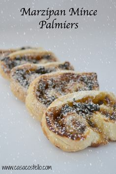 Super quick & easy Marzipan Mince Palmiers Light puff pastry Palmiers - Super quick alternative to traditional mince pies Xmas Food, Christmas Cooking, Christmas Desserts, Christmas Cakes, Christmas Recipes, Christmas Ideas, Vegan Christmas, Holiday Cakes, Christmas Inspiration