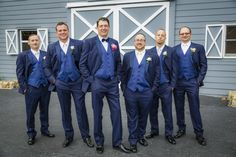 Groomsmen in front of Antique Barn at Lange Farm http://celebrationsoftampabay.com/photographers-pasco-county/