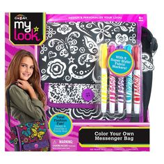 Cra-Z-Art My Look Color Your Own Messenger Bag