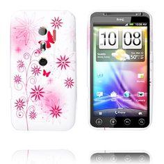Symphony (Pink - Rød Sommerfugle) HTC Evo 3D Cover
