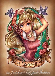 princess disney tattoo aurora just-cute