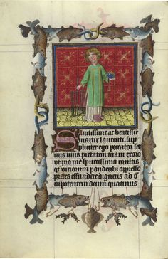 St. Lawrence | Hours of Catherine of Cleves | Illuminated Manuscript | ca. 1440 | The Morgan Library & Museum