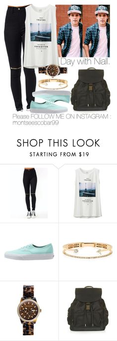 """""""Day with Niall."""" by welove1 ❤ liked on Polyvore featuring Uniqlo, Vans, Delfina Delettrez, Michael Kors and Topshop"""