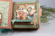 Tati, Enchanted Forest, Square Tag & Pocket Album, Product by Graphic 45, Photo 10