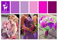 Purple & Pink Wedding Inspiration Colour Board by Designcat