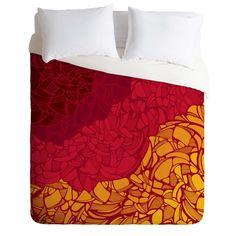 Karen Harris Fossil Blazing Hot Duvet Cover | DENY Designs Home Accessories