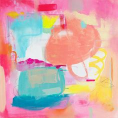 i flippin love these watercolor prints. Bright Abstract Print - 12x12