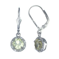 3 CT Lemon Quartz Leverback Earrings In Sterling Silver FineDiamonds9. $19.99. Jewelry Gift Box Included. Nickel Free 925 Sterling Silver with Rhodium Plating