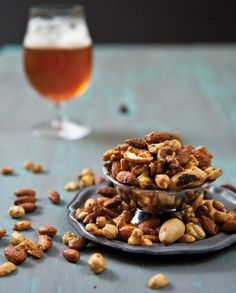 Beer nuts make the perfect bar snack, and we especially love this curried version, which finds its match in pints of spice-forward Belgian brews. Photo by Jacquelyn Dodd.