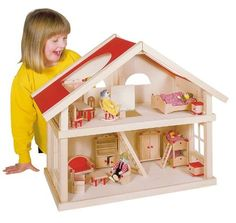 Domček pre bábiky 2-poschodový [51961] - €75.00 : Detské Hracky pre deti, detský…