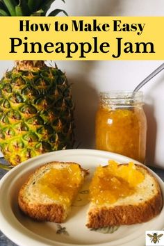 Let me show you how easy it is to make pineapple jam with this simple recipe! You'll love this pineapple jam on your toast and your peanut butter sandwiches! Pick up some pineapple when it's on sale and let's make pineapple jam! Pineapple Jam, Canned Pineapple, Fresh Pineapple Recipes, Healthy Eating Tips, Healthy Nutrition, Pressure Canning Recipes, Jam Recipes, Recipies, Canning Recipes