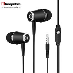 Original Langsdom R21 Stereo Earphones with Microphone Super Bass 3.5mm In-Ear Earphone Headset For iphone xiaomi mobile phones