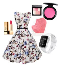 """""""Alena"""" by lisetteluce on Polyvore featuring beauty, MAC Cosmetics, Bobbi Brown Cosmetics and Yves Saint Laurent"""