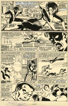 Original art and assorted oddities gathered from hither and yon relating to the formative years of Marvel Comics. Comic Book Pages, Comic Book Artists, Comic Artist, Comic Books Art, Marvel Art, Marvel Comics, Jack Kirby Art, John Byrne, Comic Panels