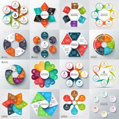 Big set of elements for infographic Royalty Free Vector , Presentation Design, Presentation Templates, Circle Diagram, Infographic Powerpoint, Powerpoint Design Templates, Web Design, Free To Use Images, Free Vector Art, Brochure Design