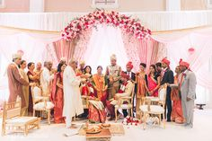 Indian couple and their family photography at wedding ceremony http://www.maharaniweddings.com/gallery/photo/107765 @StudioSheen